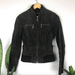 NWOT Danier Women's Dark Chocolate Leather Jacket